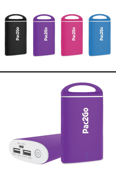 Pac2Go Portable Charger (Stocking stuffer ideas for men)