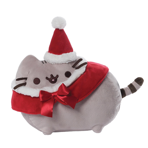GUND Pusheen Christmas Plush. Holiday gifts for her. Christmas gifts for college girls.