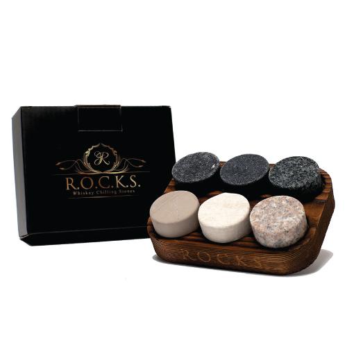 ROCKS Whiskey Chilling Stones. Bosses Day gifts for men.