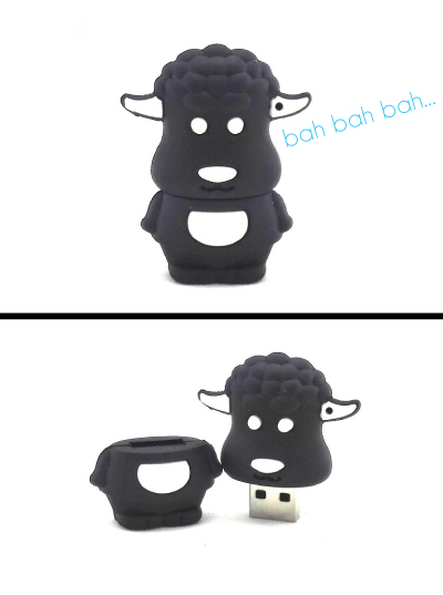 Black Sheep USB Flash Drive. Office supplies. Christmas gifts for dad.