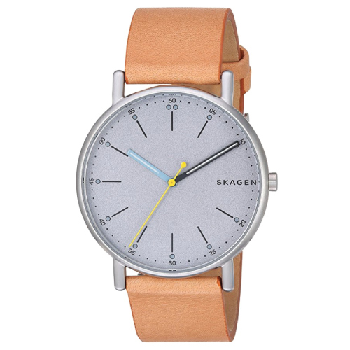 Skagen Signatur Leather Watch. For men. Christmas gifts for dad.