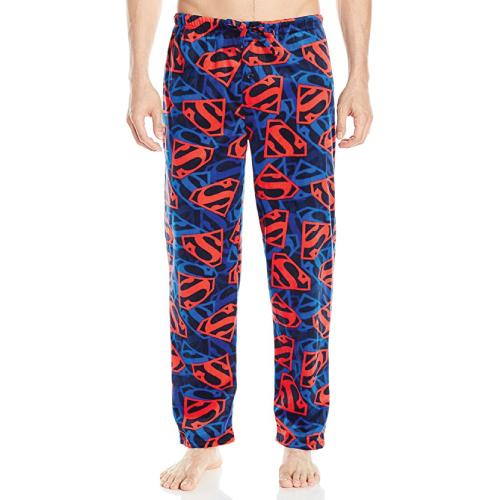 Superman Pajama Pants- Christmas gifts for teen boys.