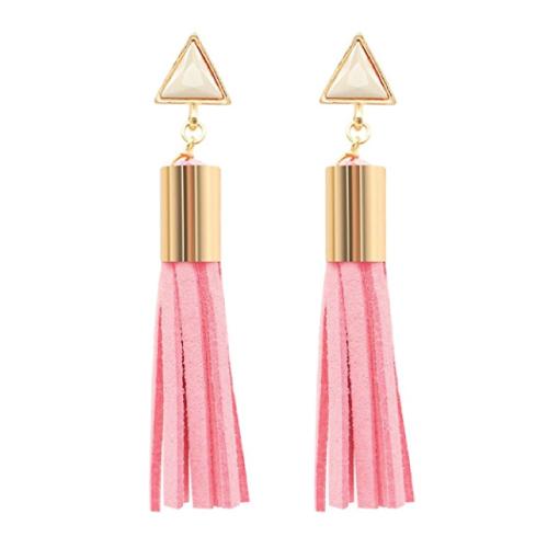 Leather Tassel Pendant Earrings. Christmas gifts for her. Stocking stuffer ideas for teen girls.