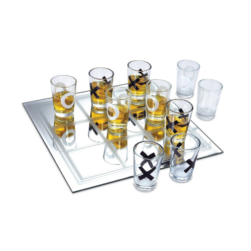 Shot Glass Tic Tac Toe Game. Hobby gifts for men. Christmas gifts for dad