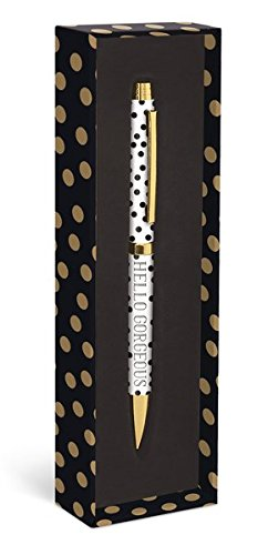 Hello Gorgeous Gold Dots Fashion Pen