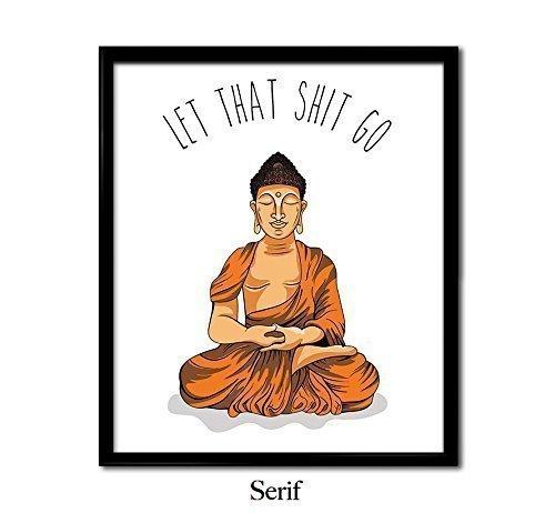 Meditating Buddha Poster
