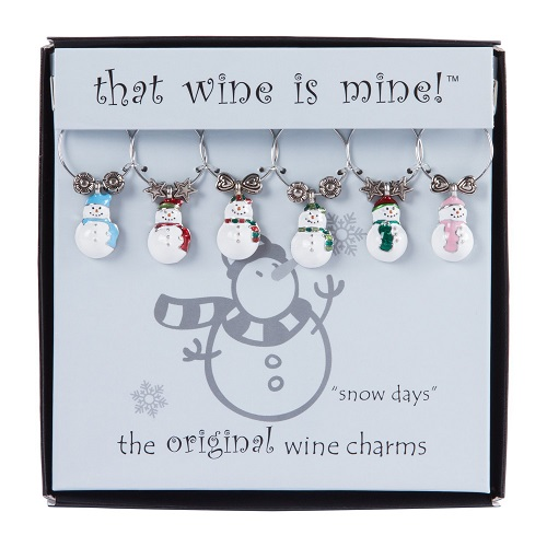 Snow Days Wine Charms