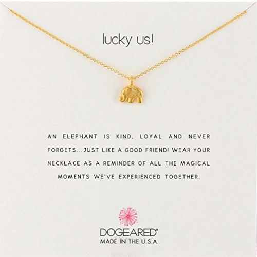 Dogeared Lucky Us Chain Necklace (Christmas gifts for mom from daughter)