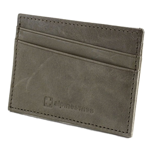 Alpine Swiss Super Thin Card Wallet. Christmas Stocking Stuffer Ideas For Men.