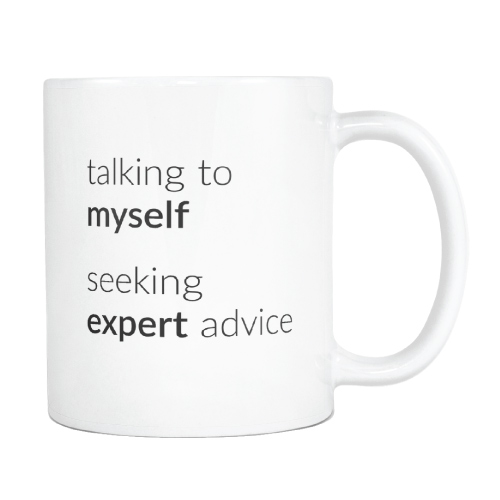 Talking To Myself Funny Mug
