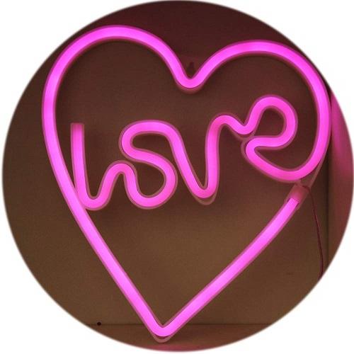 Love in Heart Neon Sign