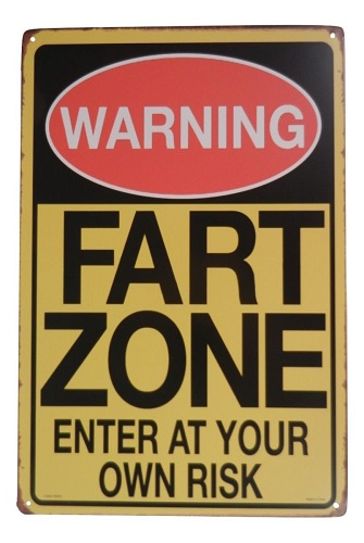 Warning Fart Zone Funny Tin Sign