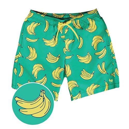 Banana Print Swim Suit Trunks