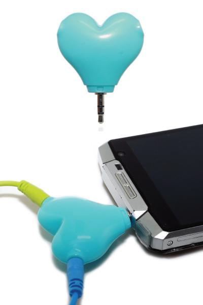 Heart Shaped Headphone Splitter