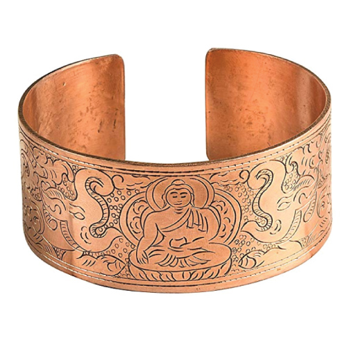 Tribe Azure Copper Buddha Bracelet