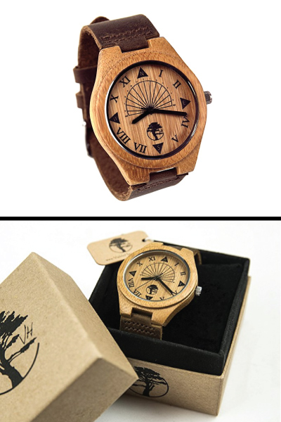 Natural Bamboo Men's Wood Watch