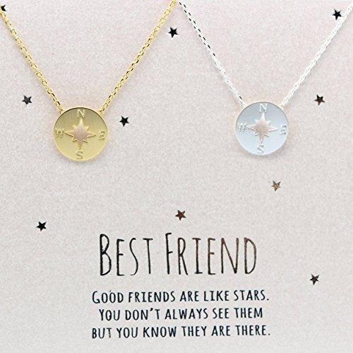 Compass Best Friend Necklace Set