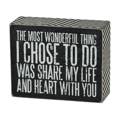 Share My Life Box Sign