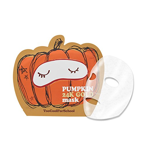 Too Cool for School Pumpkin 24k Gold Mask Sheet