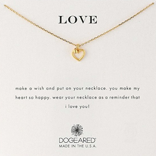 Dogeared 'Love' Heart Charm Necklace