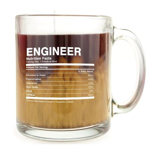 Engineer Nutrition Facts Mug