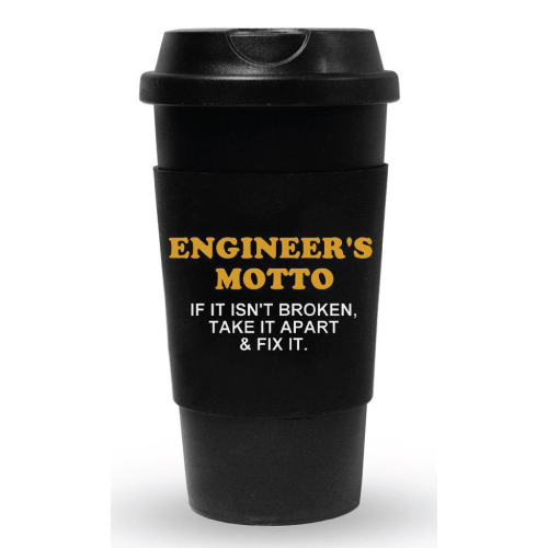 gifts for engineers Engineer's Motto Travel Tumbler