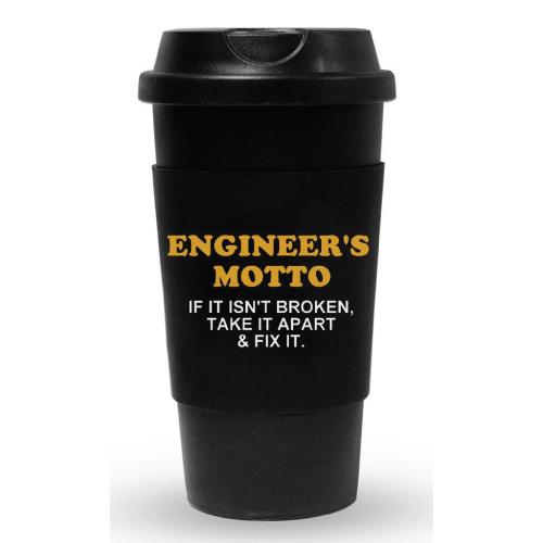 Engineer's Motto Travel Tumbler