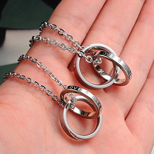His & Hers Pendant Necklace Set