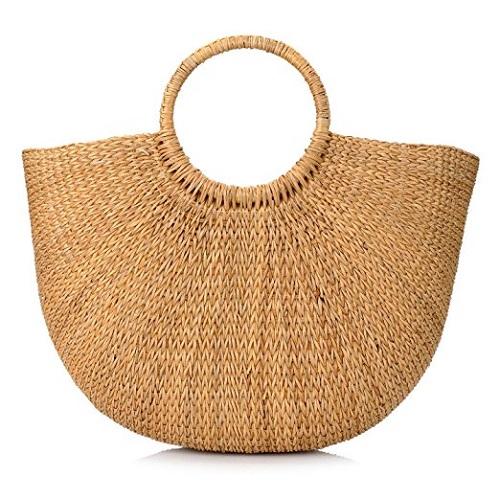 Hand-woven Straw Handbag