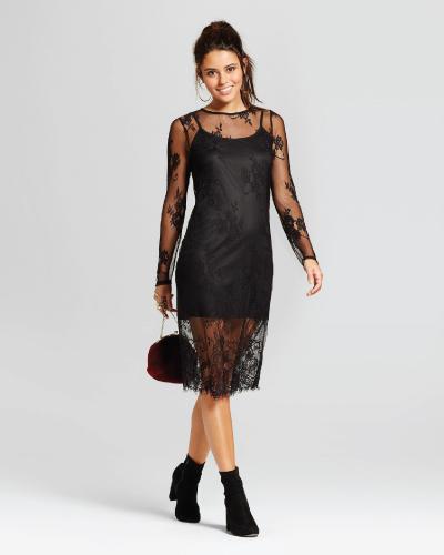 Target Xhilaration Black Lace Bodycon Dress