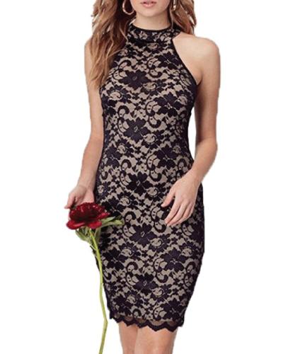 WOOSUNZE Floral Vintage Midi Dress