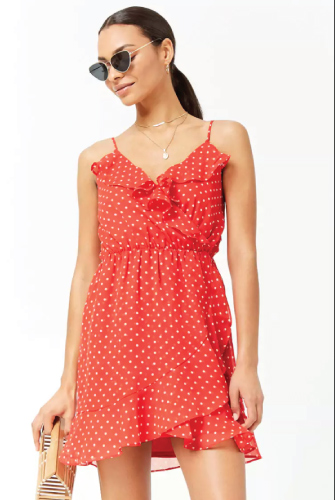 Forever21 Polka Dot Flounce Dress
