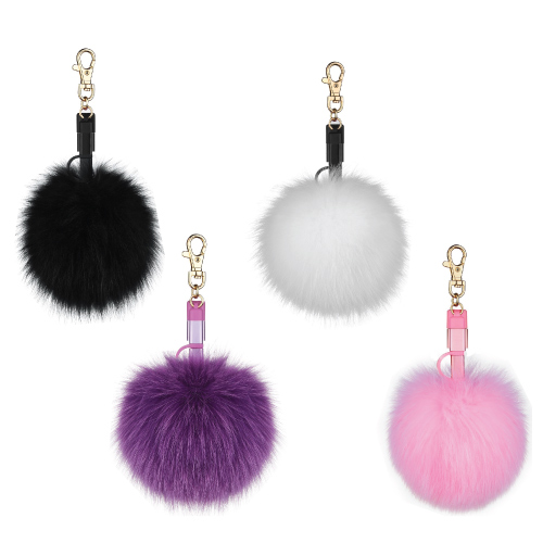Pom Pom Ball Keychain