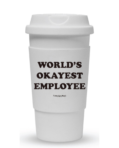 World's Okayest Employee Travel Tumbler