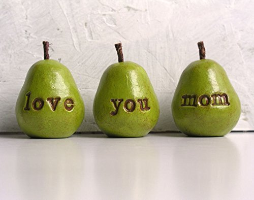 Green Love You Mom Pears