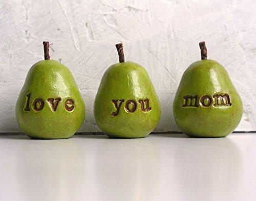 Green Love You Mom Pears