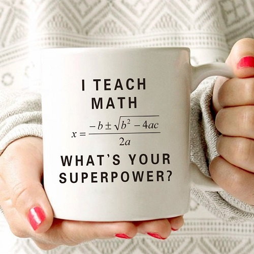 Funny Math Teacher Coffee Mug