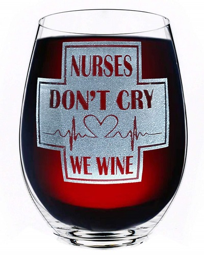 Nurse Gift Wine Glass