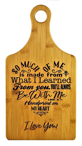 Special Love Poem Bamboo Cutting Board