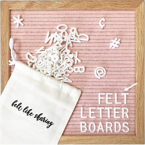 Light Pink Felt Letter Board