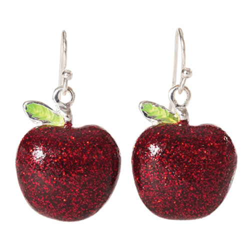 Red Apple Dangle Earrings