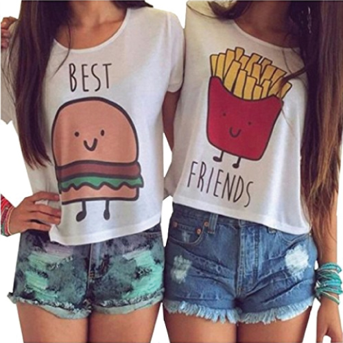 Burger and Fries Best Friend Tops