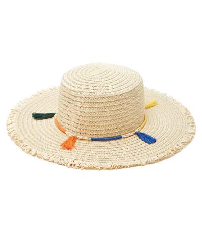 Forever 21 Tasseled Floppy Straw Hat