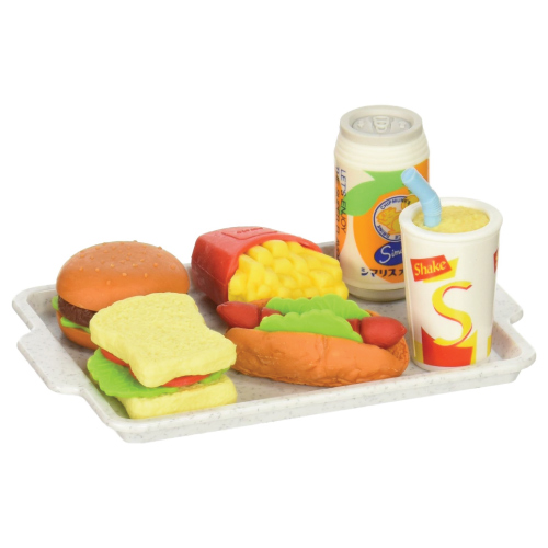 Fast Food Assortment Eraser Set