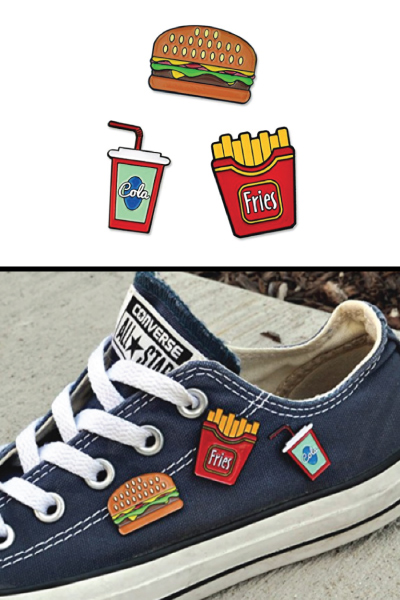 Fast Food Lapel Pin Set