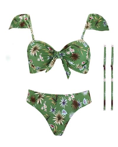 Cap Sleeve Brazilian Swimsuit
