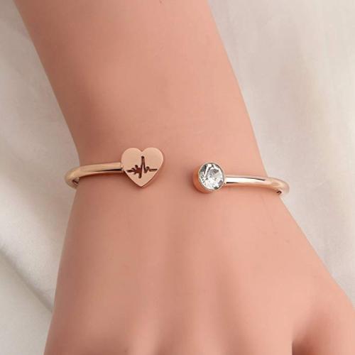 Heartbeat Stethoscope Cuff Bracelet