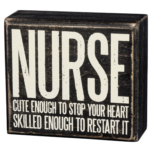 Funny Nurse Wooden Box