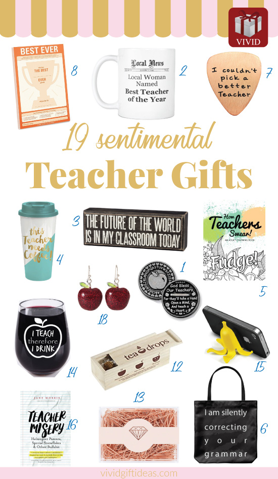 Teachers Day. Teacher appreciation gift ideas