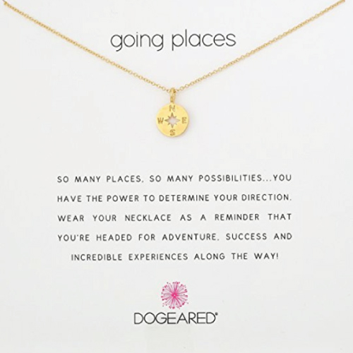 "Dogeared ""Going Places"" Compass Disc Necklace"